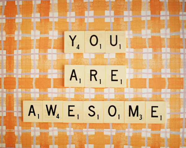 Delaney gates blog you are awesome scrabble tile print from etsy